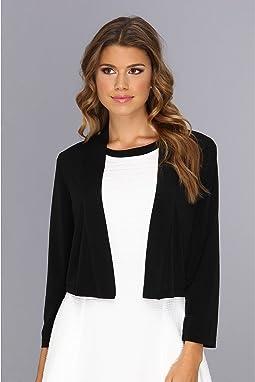 3/4 Sleeve Open Fron Shrug Dress
