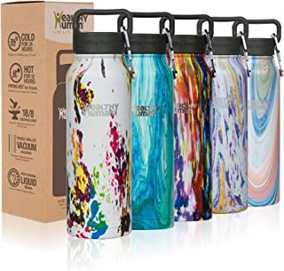 Healthy Human Water Bottle, BPA Free Sports Travel Stainless Steel Insulated Water Bottles