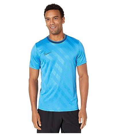 Nike Breathe Academy Top Short Sleeve All Over Print (Light Photo Blue/Coastal Blue/Coastal Blue) Men