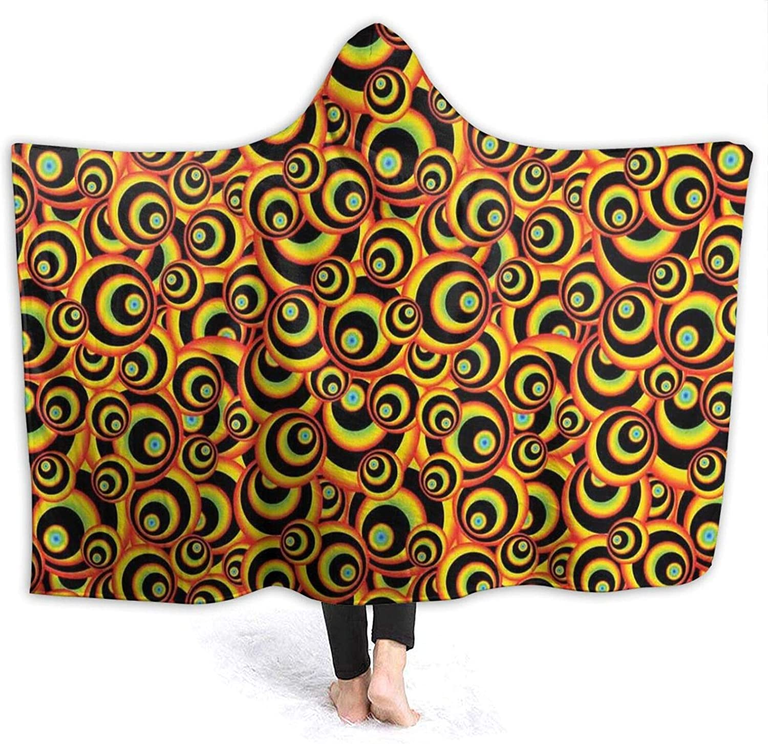 Manufacturer direct delivery Hooded Blanket Anti-Pilling Flannel Bargain sale Spiral Round Disc S Colorful