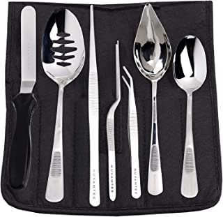 Nuvantee Plating Tools - Professional Chef Kit - 8 Piece Culinary Plating Set - Stainless Steel