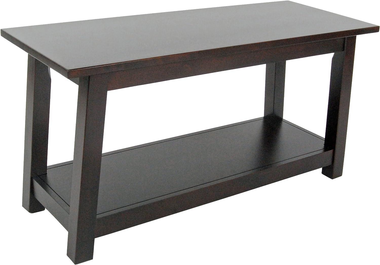 Alaterre Furniture AZMIA03P0 Artisan Bench, Espresso