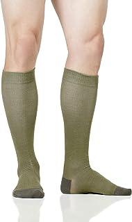 LOLLOP Men's Cotton 15-20 mmHg Compression Socks