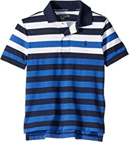 Striped Performance Lisle Polo (Little Kids/Big Kids)