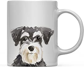 Andaz Press 11oz. Dog Coffee Mug Gift, Miniature Schnauzer Up Close, 1-Pack, Pet Animal Lover Birthday Christmas Gift for Her Family
