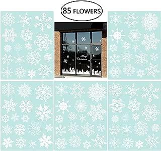 NICEXMAS 85pcs Christmas Decoration Snowflake Window Clings 33 Different Snowflakes Glueless PVC Stickers