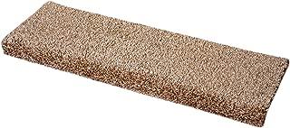 Dean Premium Pet Friendly Tape and Adhesive Free Non-Slip Bullnose Carpet Stair Treads - Safari Beige (3) (27 Inch)