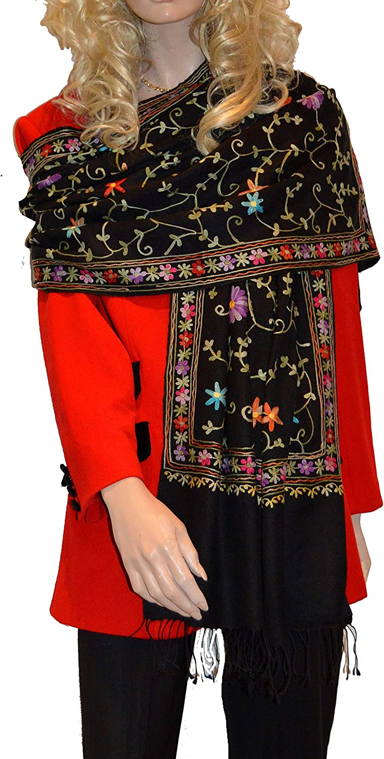 Beaded Scarf/Embroidery Shawl/Crewel Embroidery/Hook Embroidery/Sequin Shawl - (Style 13)