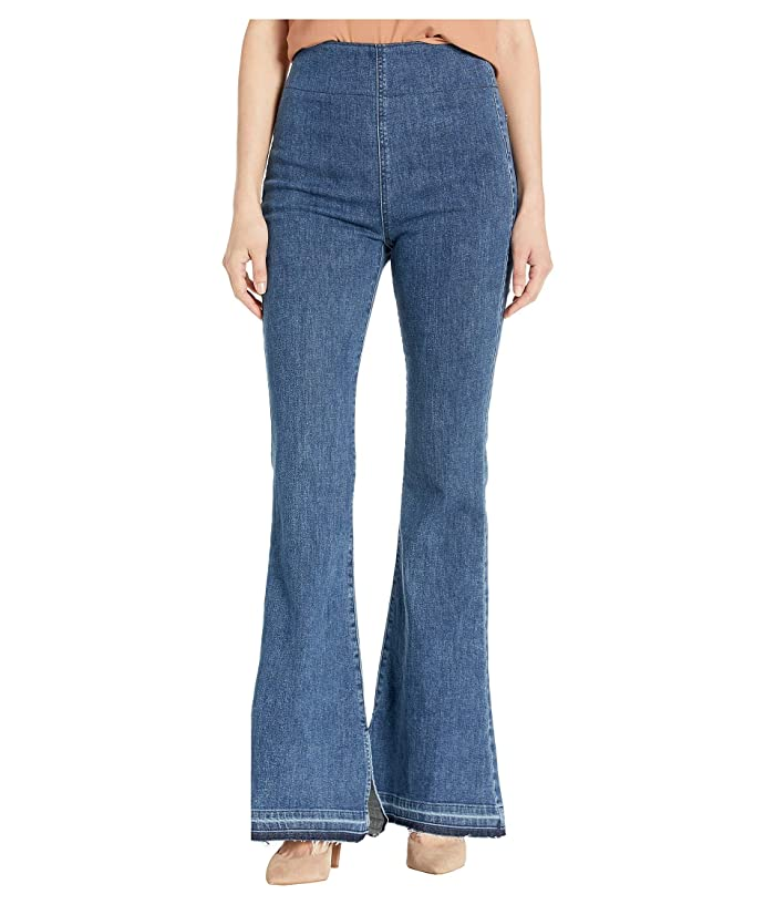 Vintage High Waisted Trousers, Sailor Pants, Jeans Show Me Your Mumu Austin Pull-On Flare in Bayou Blue Bayou Blue Womens Jeans $117.30 AT vintagedancer.com