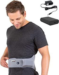 [Portable Battery] Venture Heat Infrared Back Heating Pad for Cramps Pain Relief - Heated Wrap Belt for Sprain, Swelling, Lumbar Injury, Stomach