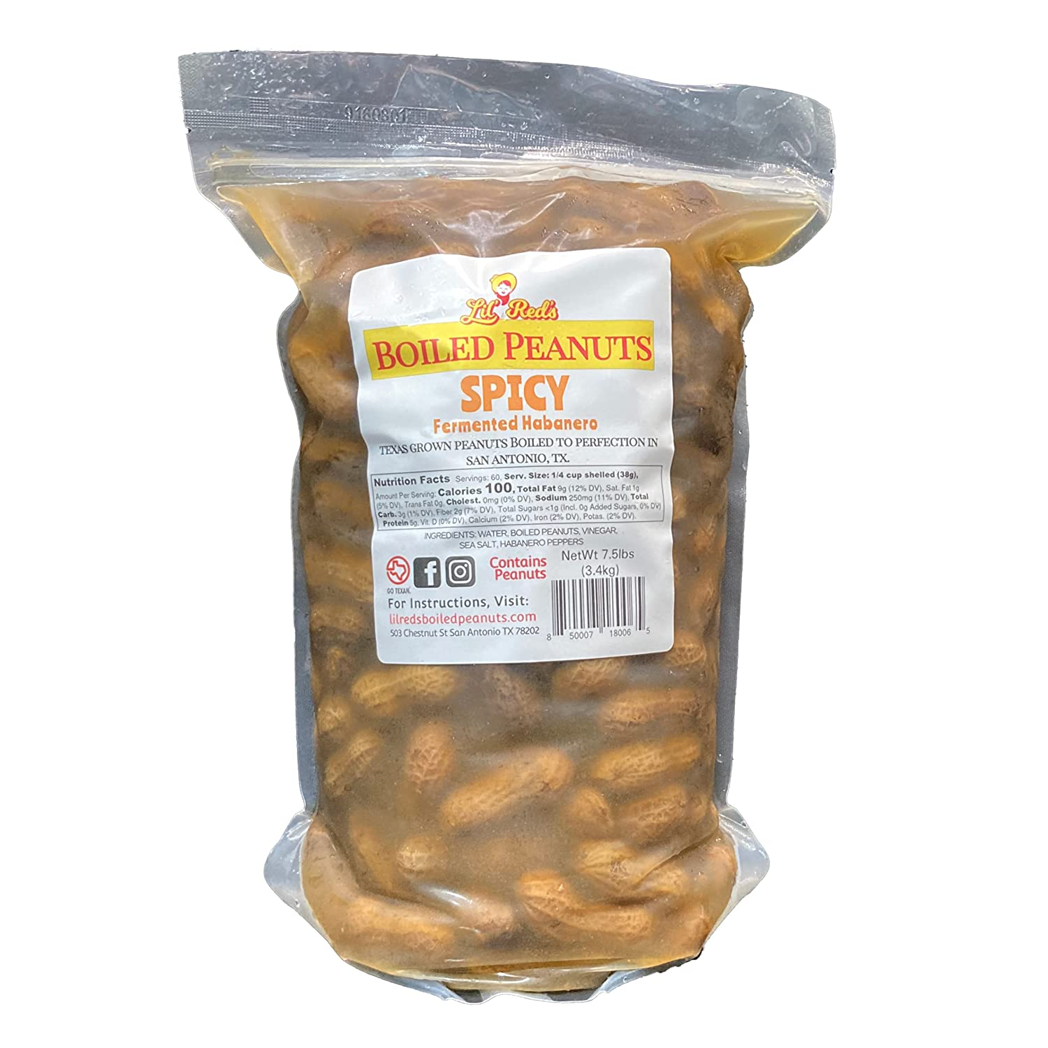 Store Lil' Red's Spicy 25% OFF Boiled Peanuts to 7.5lbs Ready Eat