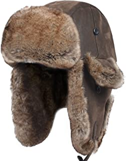 mens leather bomber hats