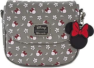 Minnie Mouse Gray Print Crossbody Purse