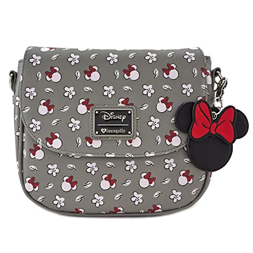 97b52fe77b8 Loungefly Minnie Mouse Gray Print Crossbody Purse
