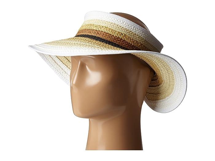 Women's Vintage Hats | Old Fashioned Hats | Retro Hats San Diego Hat Company PBV007 Paper Braid Adjustable Roll Up Visor with Ribbon Edge Natural Casual Visor $24.00 AT vintagedancer.com
