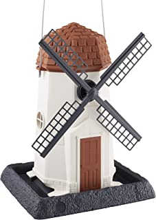 North States Bird 9072 White Windmill Birdfeeder
