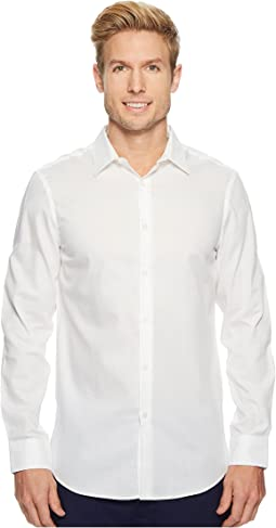 Perry Ellis - Slim Solid Dobby Performance Dress Shirt