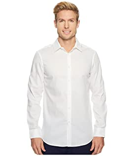 Slim Solid Dobby Performance Dress Shirt