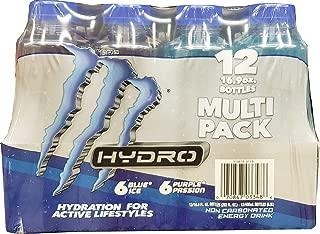 Monster Energy Drink Hydro Non Carbonated 12 x 16.9 Fl Oz Bottles Net Wt 202 Fl Oz (Pack of 12)