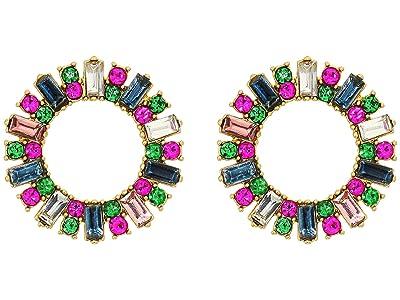 J.Crew Pavi Circle Stud Earrings (Multicolor) Earring