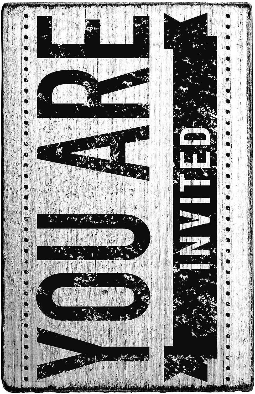 Rössler Papier - - - - Vintage Stempel You are invited - Liefermenge  3 Stück B07CX4DXV5  | Fein Verarbeitet  d7338e