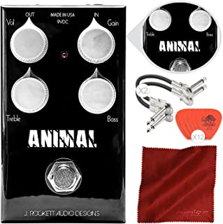 J. Rockett Audio Designs 动物巡回系列超速踏板,搭配吉他插牌、电缆和超细纤维布