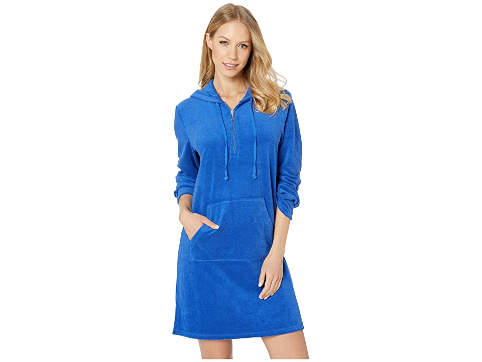 Juicy Couture Microterry Hooded Dress (Surf the Web) Women