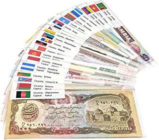 50 World Banknotes Collection from 28 Countries – 100% Authentic, Uncirculated Foreign Currency – Suitable for Collectors