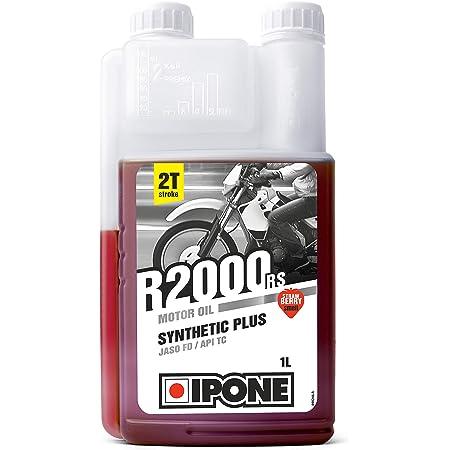 Ipone 800105 Huile Moteur Moto 2 Temps R2000 RS – Senteur Fraise – Semi-Synthétique avec Esters – Haute Qualité – Bidon Doseur 1 Litre, 1L