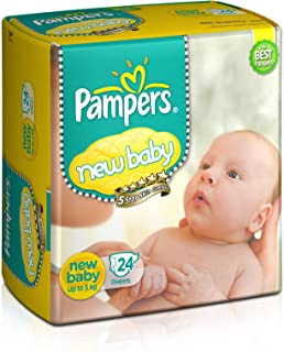 Pampers Active Baby Diapers, New Born, 24 Count