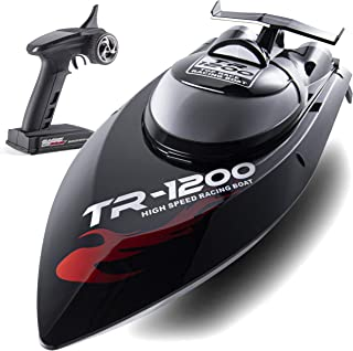 Remote Control Boat, 30 MPH Rc Boats for Adults, Rc Boat for Lakes, Auto Flip Recovery,...