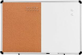 "Amazon Basics Combo Magnetic Whiteboard Dry Erase Board/Cork Board 36"" x 24"""