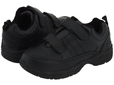 School Issue Athletic HL (Toddler/Little Kid/Big Kid) (Black Leather) Boy
