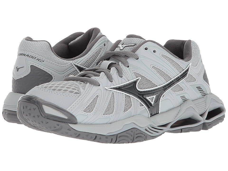 Mizuno Wave Tornado X2 (Grey) Girls Shoes