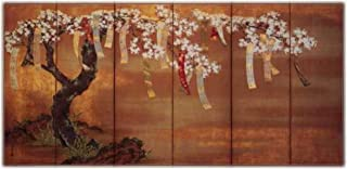 Flowering Cherry with Poem Slips by TOSA Mitsuoki