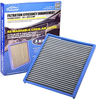 POTAUTO MAP 5008 (CF10709) Re-washable Cabin Air Filter Cleans Airflow for HYUNDAI, Accent, Genesis Coupe, Veloster, Tucson, KIA, Forte, Rio, Rondo, Sportage (Re-washable)