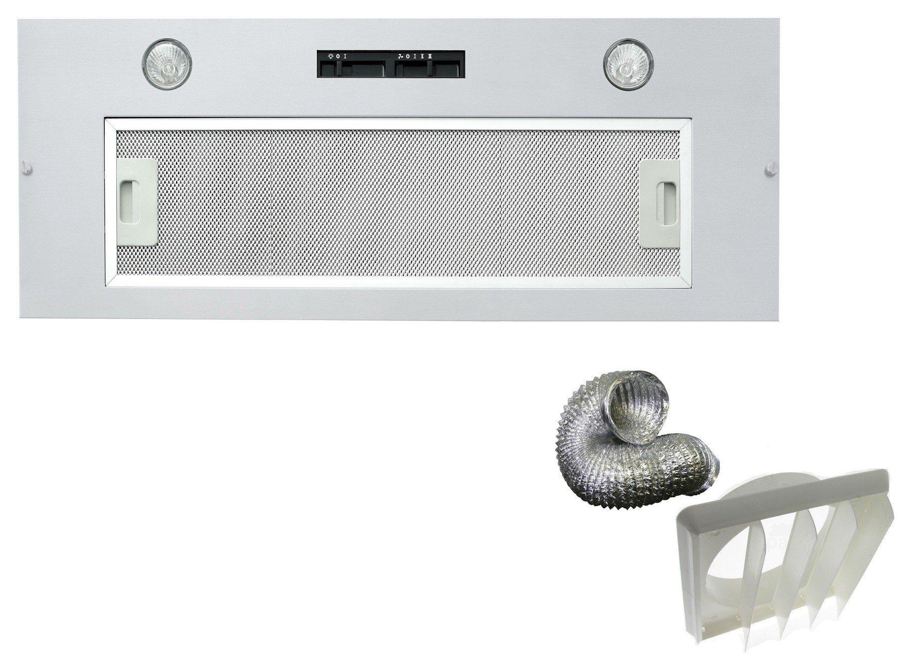 Extractor integrado para techo Cookology BUCH900SS | campana de cocina integrada de 90 cm y kit de ventilación exterior: Amazon.es: Grandes electrodomésticos