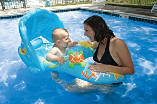 Poolmaster Learn-to-Swim Mommy and Me Baby Swimming Pool Float Rider with Retractable/Removable Canopy