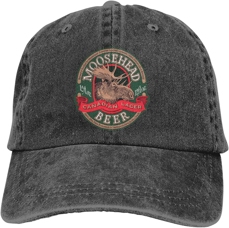 DFKJDSG Moosehead Beer Trucks Cotton Hat Cowboy Hat Baseball Caps Black
