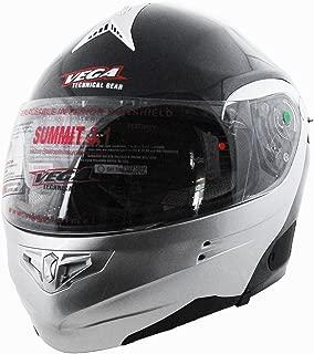 Vega Summit 3.1 2-Tone Modular Full Face Helmet (Gloss Black/Silver, XX-Small)