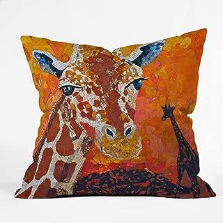 Deny Designs Elizabeth St Hilaire Nelson Giraffe Throw Pillow, 20 x 20