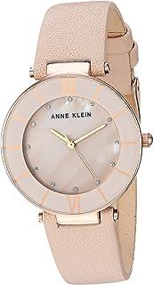 Anne Klein Women's AK/3272 Swarovski Crystal Accented Leather Strap Watch