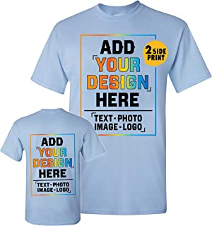 Men Women Custom Shirt Add Your Own Design Picture Photo Text Front Back Side