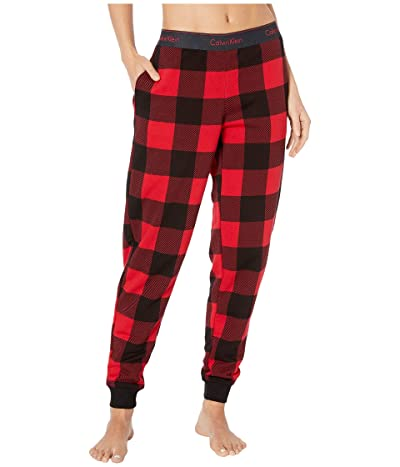 Calvin Klein Underwear Modern Cotton Lounge Buffalo Check Jogger (Buffalo Check/Temper) Women