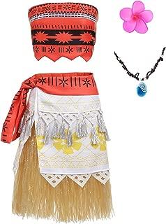 Moana Dress Little Girls Adventure Grass Dress for Girls and Adult
