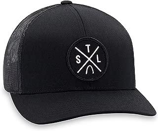 STL Hat – St. Louis Trucker Hat Baseball Cap Snapback Golf Hat (Black)