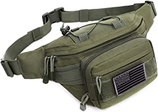 Tactical Fanny Pack Military Waist Bag Pack Hip Bum EDC Bag with Adjustable Strap for Camping Hiking Hunting