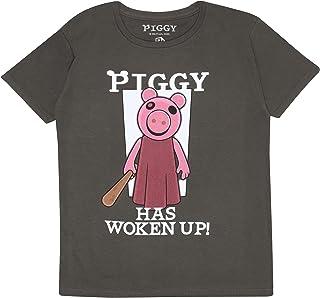 Piggy Is wakker geworden Jongens T-shirt | Official Merchandise | Ages 4-15, Gamer cadeaus, Roblox, Boys Fashion Top, Kind...