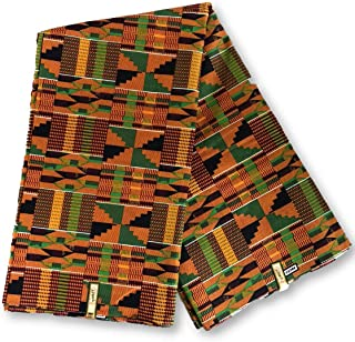 African Kente Print #1- Serengeti Fabric (1 Yard) kente African print fabric cotton 44