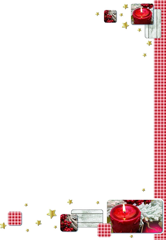Rössler Papier - - Design-W-Blatt DIN A4- A4- A4- Weihnachtskerze B07CX4KYQB | Adoptieren  aecb18